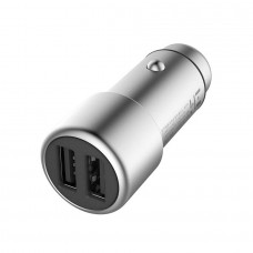 Автомобильное З.У. Xiaomi ZMI Metal Car Charger 2USB 3,6A Silver