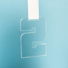 Медаль SECOND PLACE в подарочной упаковке, 65х100х5 мм, акрил, прозрачный