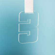 Медаль THIRD PLACE в подарочной упаковке, 65х100х5 мм, акрил, прозрачный