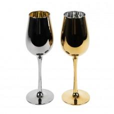 Набор бокалов для вина MOONSUN (2шт), серебристый, золотистый