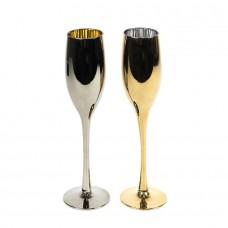 Набор бокалов для шампанского MOONSUN (2шт), серебристый, золотистый