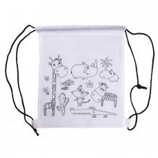 Рюкзак для раскрашивания WIZZY с восковыми мелками (5шт), белый