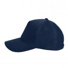 Бейсболка STANDARD, 5 клиньев, металлическая застежка, Темно-синий
