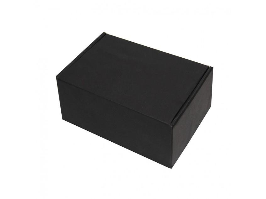 Коробка подарочная с ложементом, размер 20,5х13,5х8,5 см, картон, самосборная, черная, черный