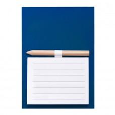 Магнитный блокнот YAKARI, 40 листов, карандаш в комплекте, синий, картон, Синий