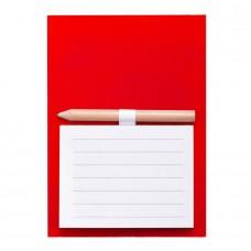 Магнитный блокнот YAKARI, 40 листов, карандаш в комплекте, красный, картон, Красный