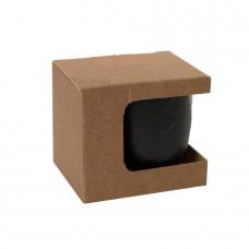 Коробка для кружки 13627, размер 12,3х10,0х10,8 см, микрогофрокартон, коричневый, коричневый