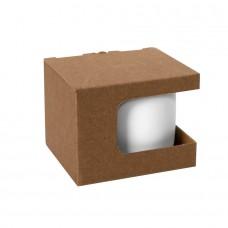 Коробка для кружек 23504, 26701, размер 12,3х10,0х9,2 см, микрогофрокартон, коричневый, коричневый
