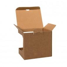 Коробка для кружек 25903, 27701, 27601, размер 11,8х9,0х10,8 см, микрогофрокартон, коричневый, коричневый