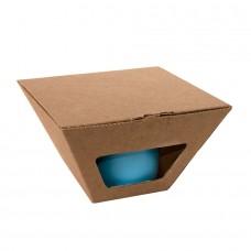Коробка для чайных пар 27600, 27800, размер 17,2х10,94х8,2 см,  микрогофрокартон, коричневый, коричневый