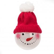 Шар новогодний SNOWMAN, красный