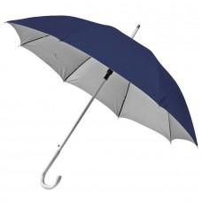 Зонт-трость SILVER, пластиковая ручка, полуавтомат, Темно-синий