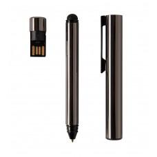 Ручка с флешкой GENIUS, 4 Гб, Черный