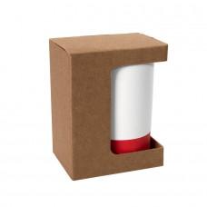 Коробка для кружки 26700, размер 11,9х8,6х15,2 см, микрогофрокартон, коричневый, коричневый