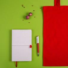 Набор подарочный WHITEYOU: бизнес-блокнот, ручка, сумка, Белый