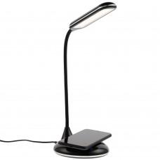 Лампа с беспроводной зарядкой Bright Helper, черная