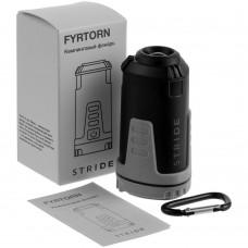 Кемпинговый фонарь Fyrtorn, серый с черным