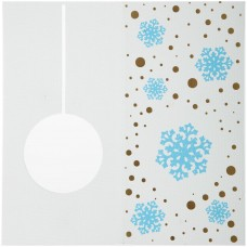 Открытка Season's Greetings, со снежинкой