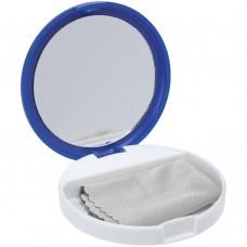 Зеркало с подставкой для телефона Self, синее с белым