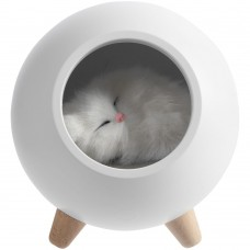 Беспроводная лампа-колонка Right Meow, белая