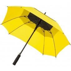 Квадратный зонт-трость Octagon, черный с желтым