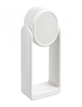 Настольная лампа с зеркалом и беспроводной зарядкой Tyro, белая