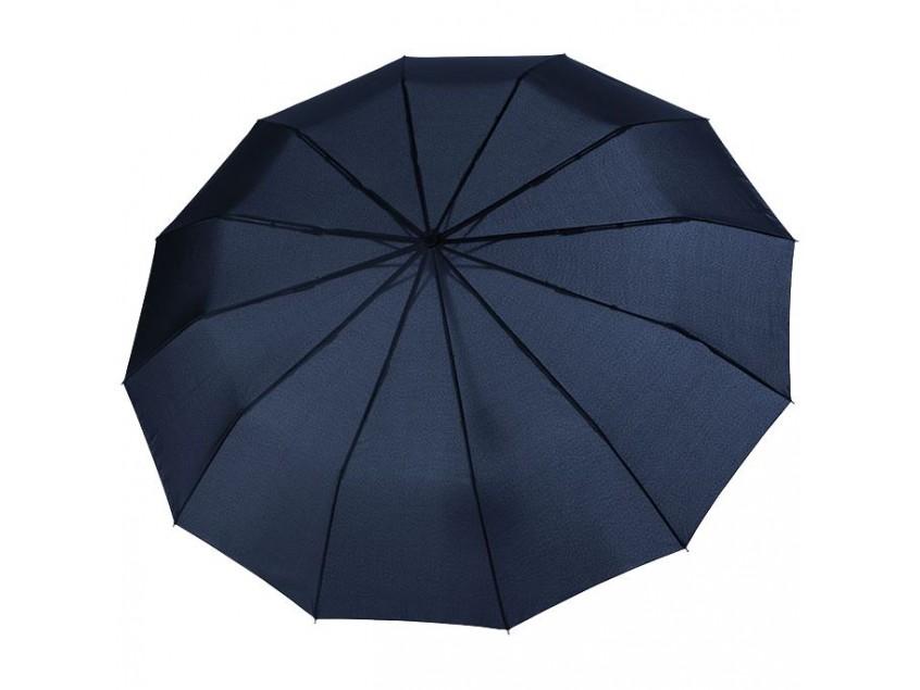 Зонт складной Fiber Magic Major, темно-синий