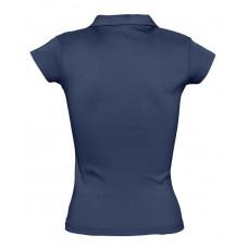 Рубашка поло женская без пуговиц PRETTY 220, кобальт (темно-синяя)