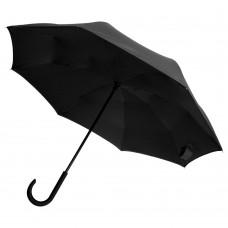 Зонт наоборот Unit Style, трость, черный