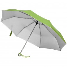 Зонт складной Silverlake, зеленое яблоко с серебристым