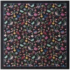 Платок Butterfly Silk, черный
