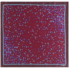 Платок Tourbillon Silk, бордовый