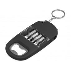 Брелок-открывалка с отвертками и фонариком Uni софт-тач