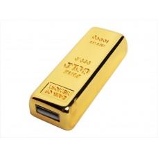 USB 2.0- флешка на 4 Гб в виде слитка золота