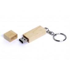 USB 2.0- флешка на 4 Гб прямоугольная форма, колпачок с магнитом