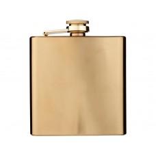 Золотистая плоская фляга Elixer объемом 175мл, золотистый