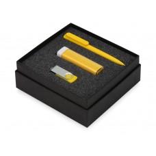 Подарочный набор On-the-go с флешкой, ручкой и зарядным устройством