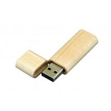 USB 2.0- флешка на 4 Гб эргономичной прямоугольной формы с округленными краями
