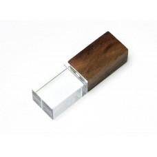 USB 2.0- флешка на 32 Гб прямоугольной формы, под гравировку 3D логотипа