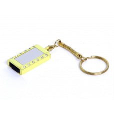 USB 2.0- флешка на 8 Гб Кулон с кристаллами и мини чипом