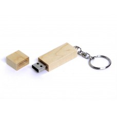 USB 2.0- флешка на 64 Гб прямоугольная форма, колпачок с магнитом