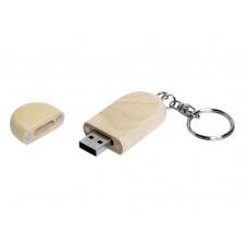 USB 2.0- флешка на 4 Гб овальной формы и колпачком с магнитом