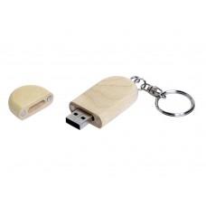 USB 2.0- флешка на 16 Гб овальной формы и колпачком с магнитом