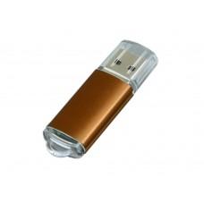 USB 2.0- флешка на 4 Гб с прозрачным колпачком