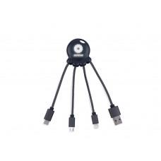 Зарядный кабель Octopus Light с подсветкой логотипа