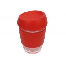 Стеклянный стакан с силиконовой крышкой и манжетой Monday