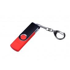 USB 3.0/micro USB/Type-C- флешка на 32 Гб с поворотным механизмом