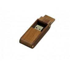 USB 2.0- флешка на 64 Гб прямоугольной формы с раскладным корпусом