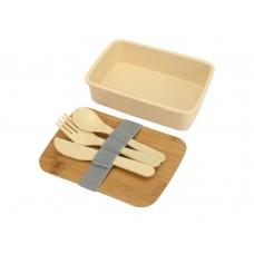 Ланч-бокс Lunch из пшеничного волокна с бамбуковой крышкой