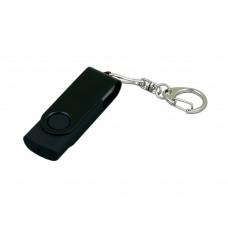 USB 2.0- флешка промо на 8 Гб с поворотным механизмом и однотонным металлическим клипом